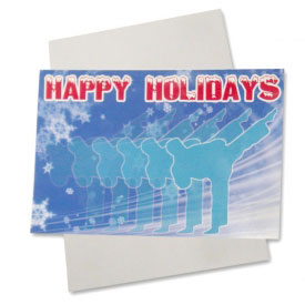 White Christmas Karate Postcards (10-Pack)