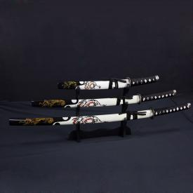 White Dragon Samurai Sword Set