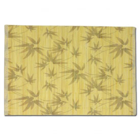 White Floral Bamboo Place Mats