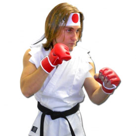White Karate Fighter Costume