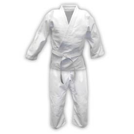 White Single Weave Judo Uniform