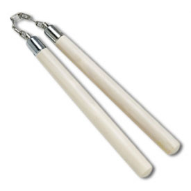 White Wax Wood Nunchaku