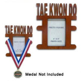 Wooden TKD Medal Display Picture Frame