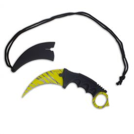 Yellow Blade Karambit Neck Knife