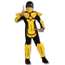 Yellow Armored Ninja Costume
