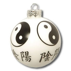 Yin Yang Christmas Ornament