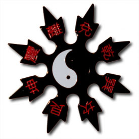 Yin Yang Throwing Star