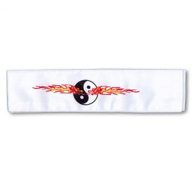 Flaming Yin Yang Headband