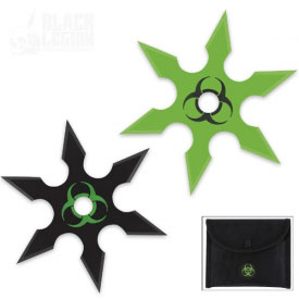 Zombie Biohazard Throwing Stars