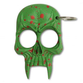 Zombie Skull Spiked Keychain