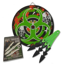Zombie Throwing Knife Gift Set