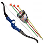 Blue Archer Toy Set Plastic Ninja Bow And Arrows Pack