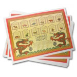 Disposable Chinese Zodiac Place Mats