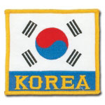 Korea Flag Patch