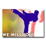 Miss You Sidekick Postcard