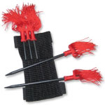 Ninja Throwing Spikes with Tassels