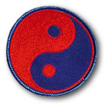 Red and Blue Yin Yang Patch