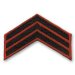 Sergeant Stripes Rank Patch