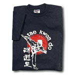 Taekwondo Side Kick T-Shirt with Large Logo
