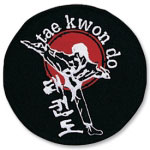 Taekwondo Sidekick Patch