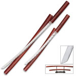 Tiger Stripe Nodachi Sword Set