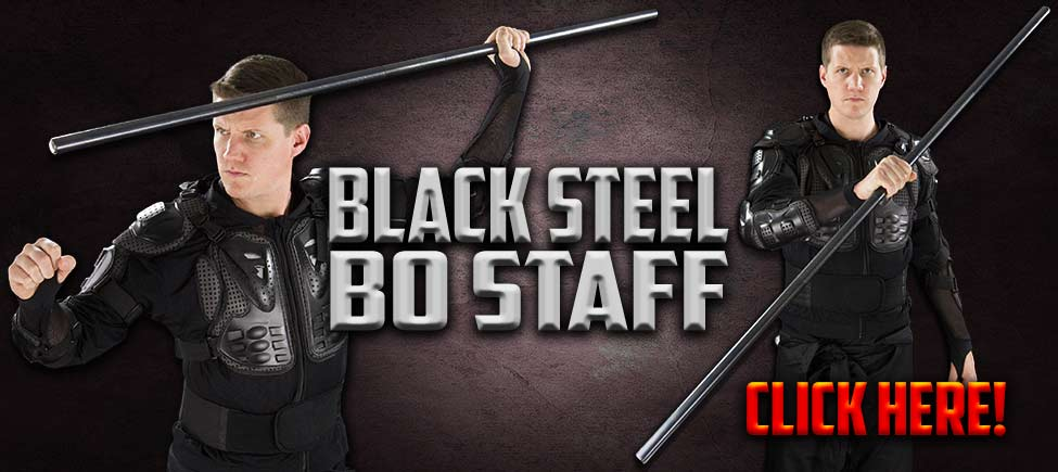 Black Steel Bo Staff
