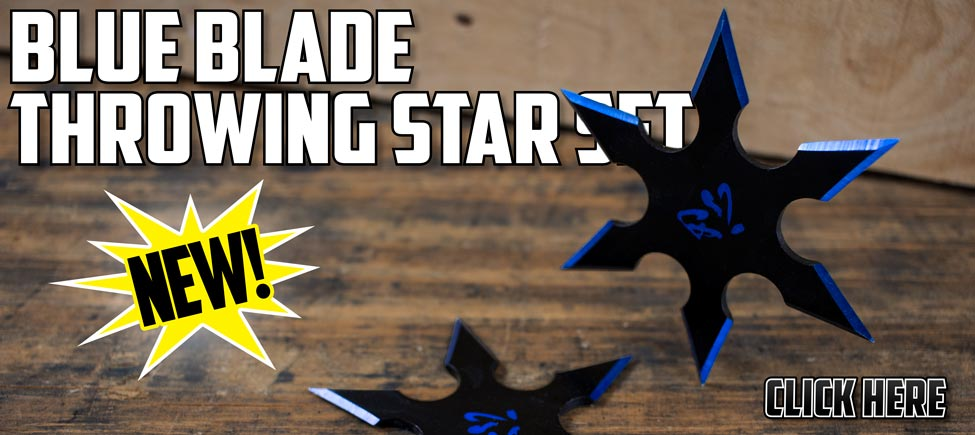 New Blue Blade Throwing Star Set