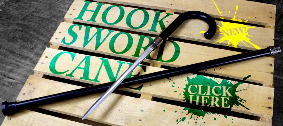 The Hook Sword Cane for Self-Defense