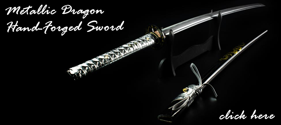 Unleash Your Inner Dragon with the Metallic Dragon Hand-Forged Sword!