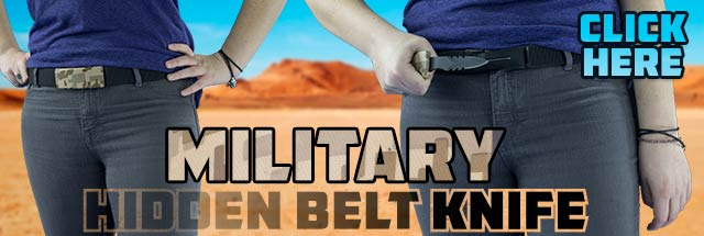 Military Hidden Belt Knife