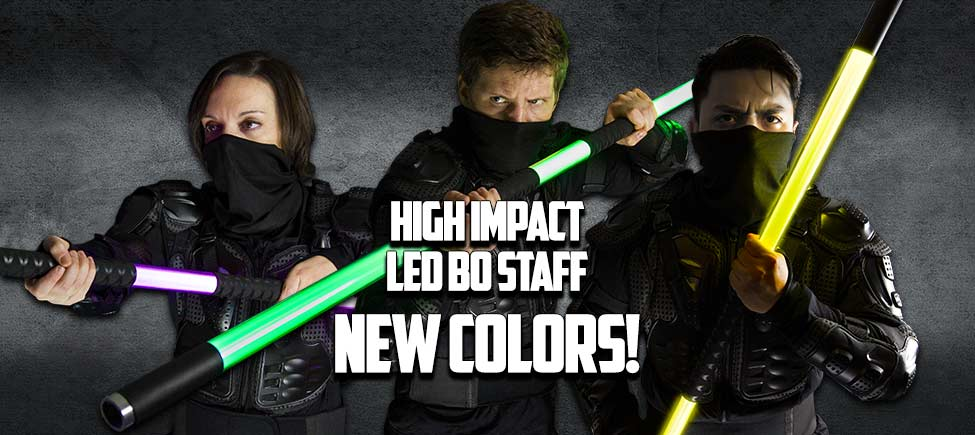 High Impact LED Bo Staff : New Colors!