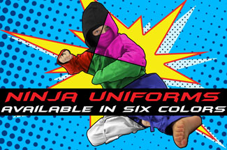Ninja Uniforms in Six Colors